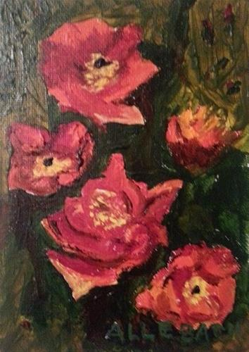 """Red Poppies"" original fine art by Jo Allebach"