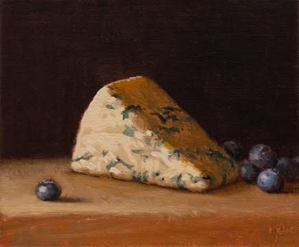 """Still Life with Blueberries"" original fine art by Abbey Ryan"