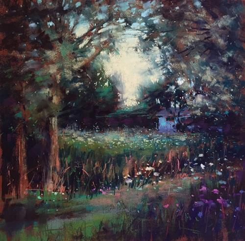 """""""Secret Garden"""" original fine art by Marla Baggetta"""