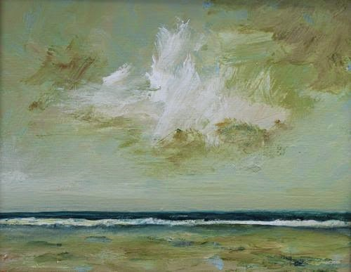 """""""Storm Watch, Contemporary Seascape Paintings by Arizona Artist Amy Whitehouse"""" original fine art by Amy Whitehouse"""