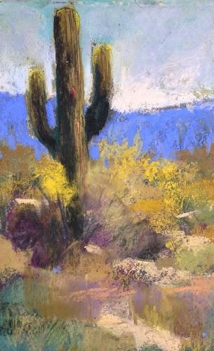 """Painting Arizona Day 2 ...Cactus Heaven!"" original fine art by Karen Margulis"
