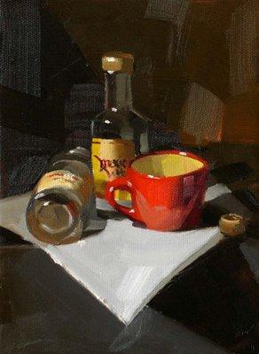 """After Work"" original fine art by Qiang Huang"