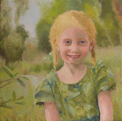 """Niece Elise"" original fine art by Nina Brodsky"