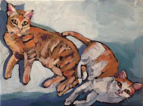 """March 24, Brisbane and Ayer"" original fine art by Kat Corrigan"