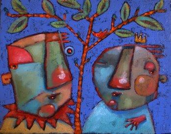 """Forest-Tree"" original fine art by Brenda York"