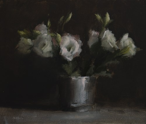 """Lisianthus"" original fine art by Neil Carroll"