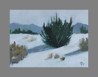 """Winter on Sims Mesa"" original fine art by Pamela Munger"