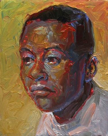 """Michael"" original fine art by Raymond Logan"