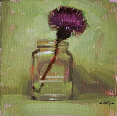 """Thin Thistle"" original fine art by Carol Marine"