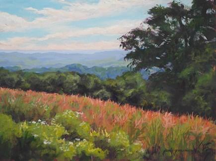 """Overlooking the Fields"" original fine art by Jamie Williams Grossman"