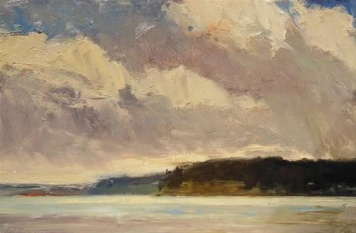 """Weather Clouds plein air landscape painting by Robin Weiss"" original fine art by Robin Weiss"
