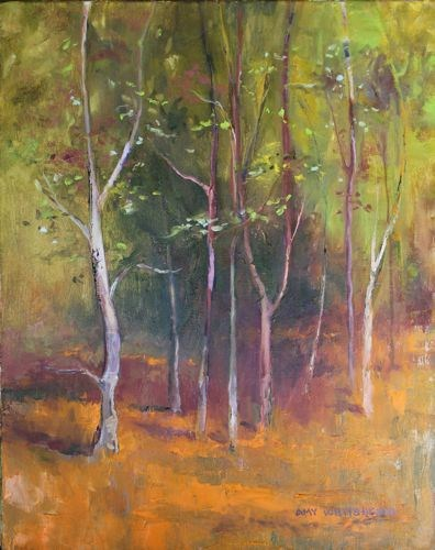 """""""Storybook Forest Landscape Paintings by Arizona Artist Amy Whitehouse"""" original fine art by Amy Whitehouse"""
