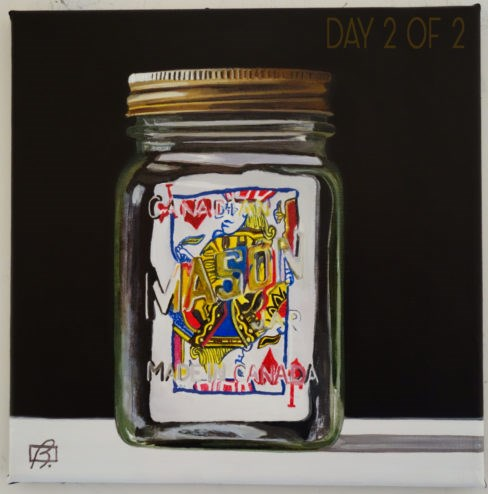 """Jack in a Jar II"" original fine art by Andre Beaulieu"