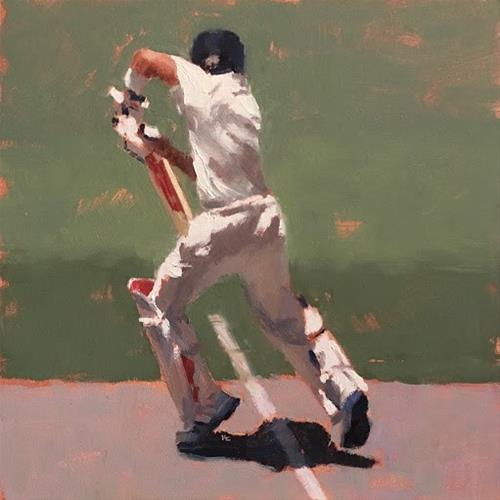 """BATSMAN SERIES #4 of 9"" original fine art by Helen Cooper"