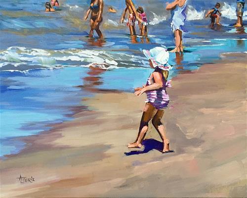"""Want to Swim"" original fine art by Andrea Jeris"