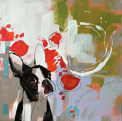 """Fetching"" original fine art by Teddi Parker"