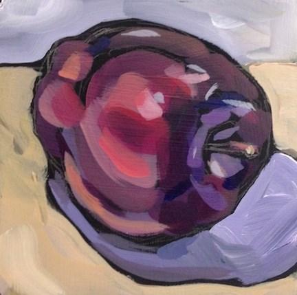 """Lounge Apple"" original fine art by Kat Corrigan"