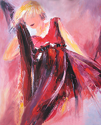 """Red Fury"" original fine art by Denise Henley"