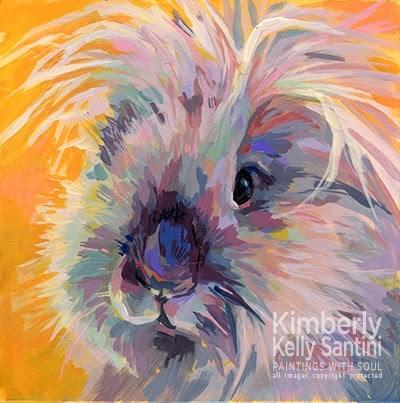 """Sun Bun - He's a Ray of Light"" original fine art by Kimberly Santini"