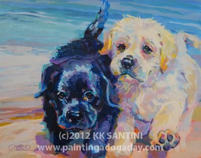 """Incoming, Finished"" original fine art by Kimberly Santini"