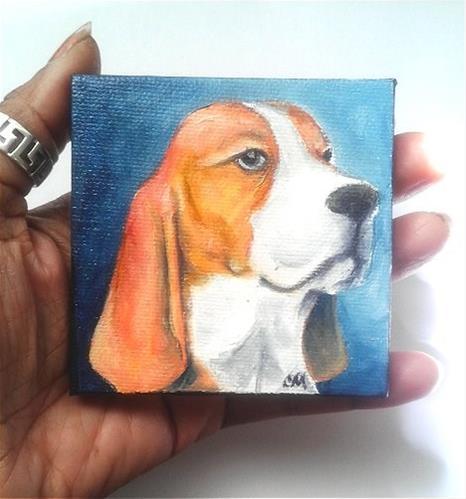 """Beagle"" original fine art by Camille Morgan"