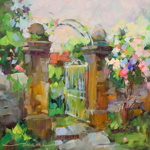 """""""Entrance to Peace"""" original fine art by Dreama Tolle Perry"""