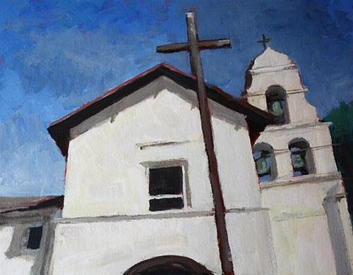 """""""Mission Cross"""" original fine art by J. Farnsworth"""