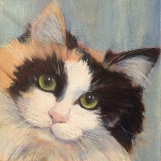 """""""Lindsey's Cats - Callie"""" original fine art by Lyn Gill"""