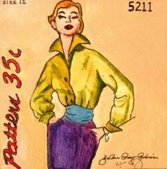 """Vintage Fifties Gal"" original fine art by JoAnne Perez Robinson"