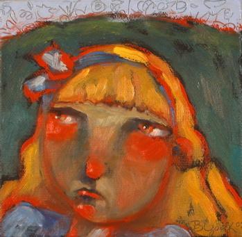 """Alice Takes Leave Of Wonderland"" original fine art by Brenda York"
