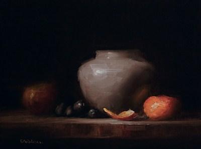 """Arrangement with Peel - study"" original fine art by Neil Carroll"