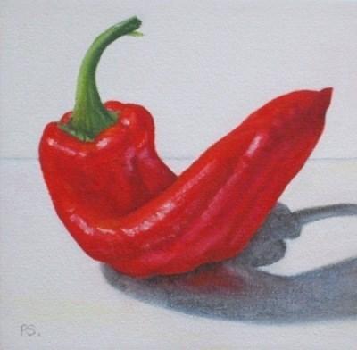 """""""Pimento Pepper I"""" original fine art by Pera Schillings"""