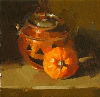 """Happy Halloween"" original fine art by Qiang Huang"
