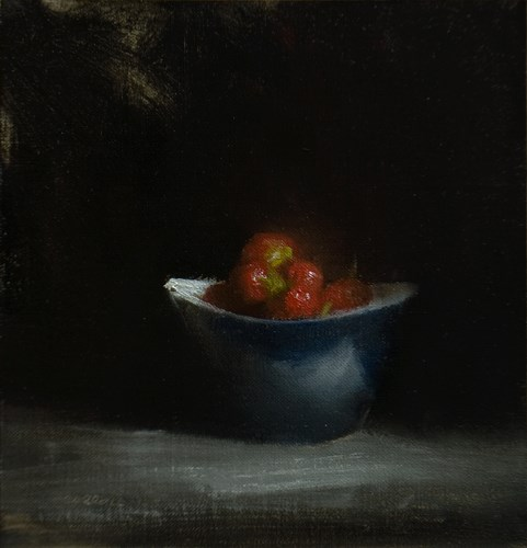 """Strawberry Bowl"" original fine art by Neil Carroll"