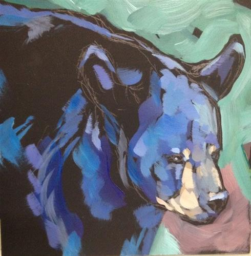 """Bear-y Shiny"" original fine art by Kat Corrigan"