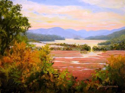 """Autumn Morning at Boscobel"" original fine art by Jamie Williams Grossman"