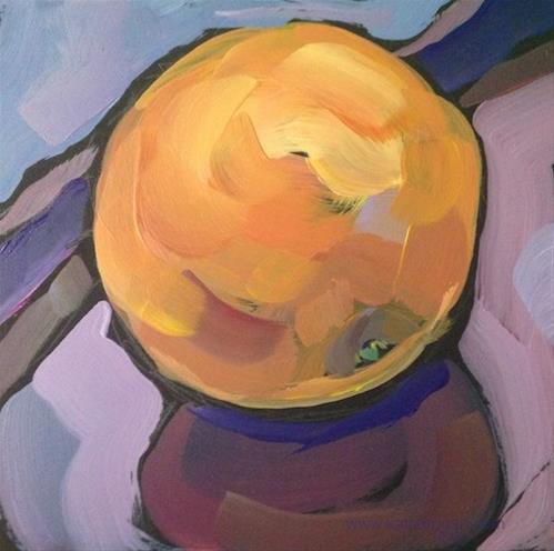 """""""October Orange"""" original fine art by Kat Corrigan"""
