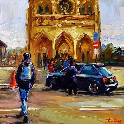 """Notre-Dame"" original fine art by Jurij Frey"