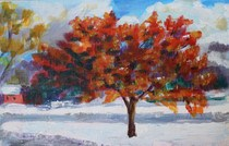 """November Snow"" original fine art by Maggie Flatley"