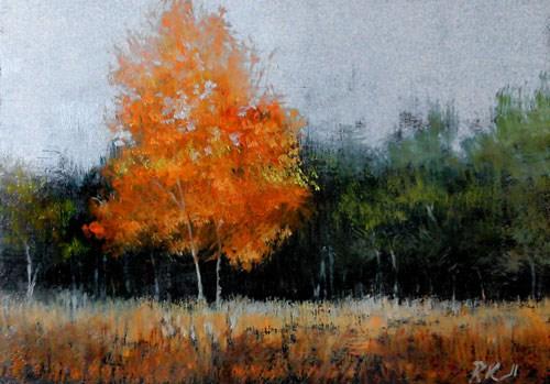 """An Autumn Tree"" original fine art by Bob Kimball"