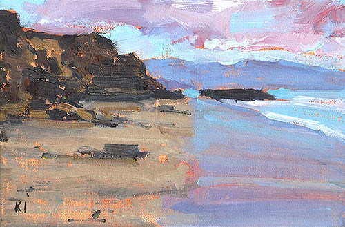 """Blacks Beach Painting"" original fine art by Kevin Inman"