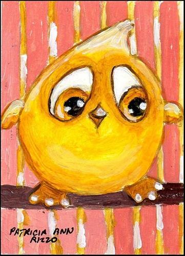 """""""Little Canary"""" original fine art by Patricia Ann Rizzo"""