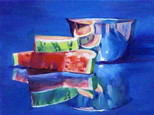 """Summer Feast"" original fine art by Linda Lowery"
