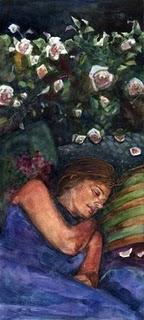 """""""Watercolor: Roses for Stars"""" original fine art by Belinda Del Pesco"""