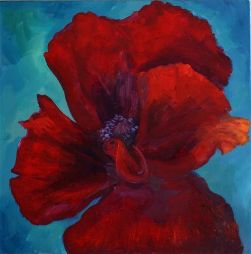 """poppy"" original fine art by Kristen Dukat"