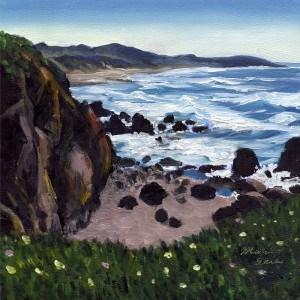 """""""Bodega Bay in Spring"""" original fine art by Mariko Irie"""