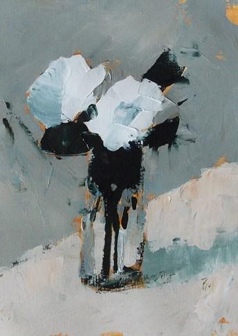 """White Floral XXV"" original fine art by Pamela Munger"