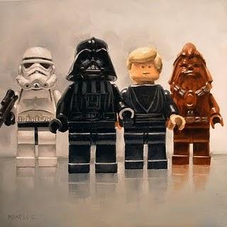 """Star Wars Line Up"" original fine art by Michael Naples"