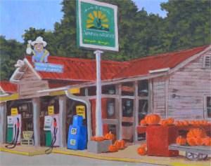 """Pumpkins and Peanuts"" original fine art by Robert Frankis"