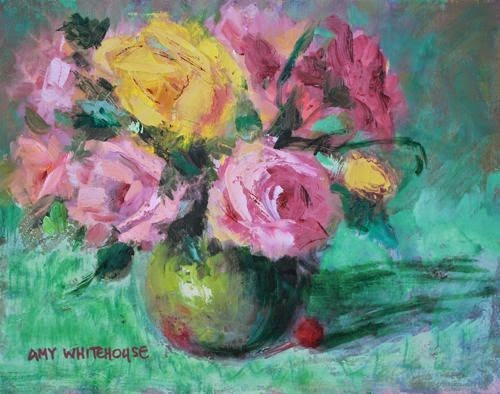 """""""Summer Floral, Contemporary Floral Paintings by Arizona Artist Amy Whitehouse"""" original fine art by Amy Whitehouse"""